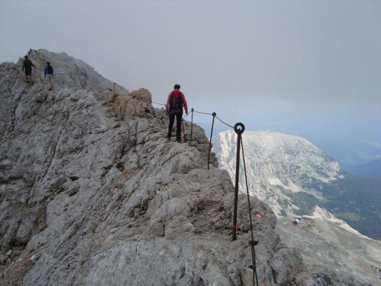 Triglav - początek zejścia ze szczytu