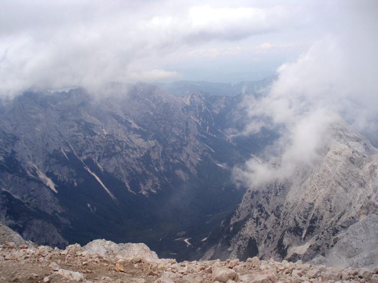 widok z Triglava Soca