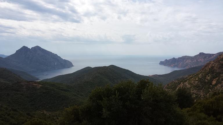 okolice miejscowości Galeria - widok na morze z gór