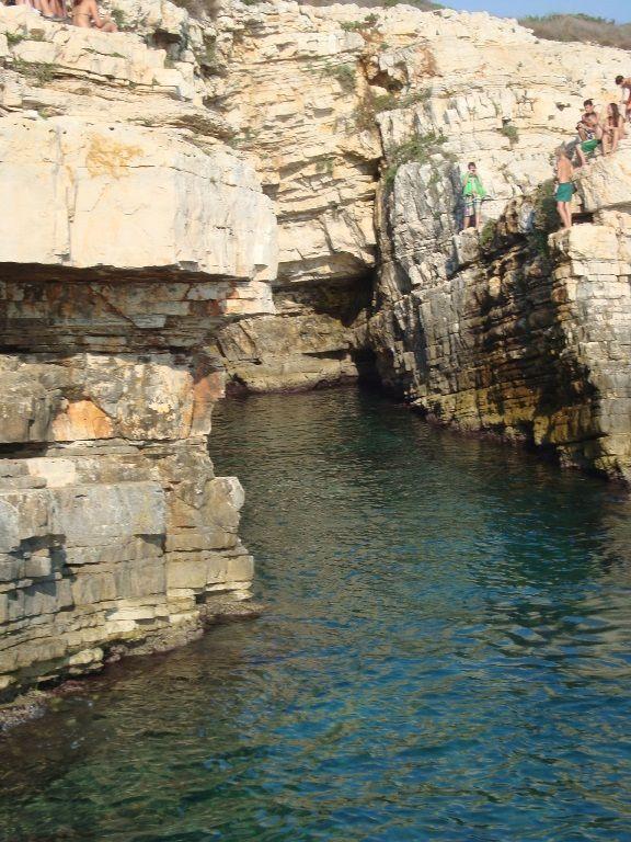 Kamenjak - skoki do wody ze skał