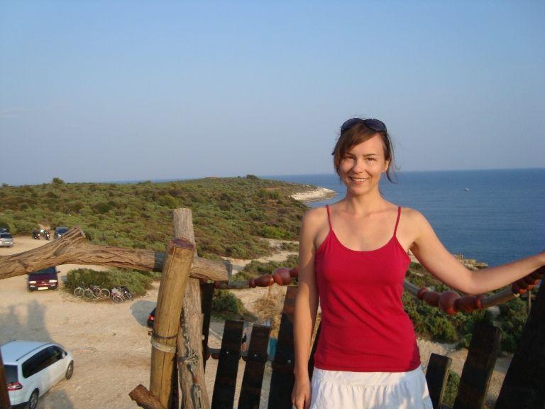 Widok na przylądek Kamenjak z wieży widokowej
