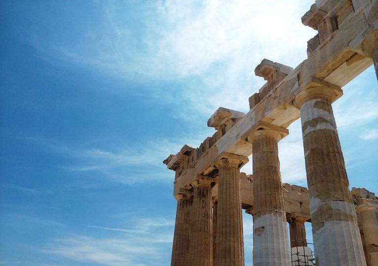 Ateny - ruiny na Akropolu