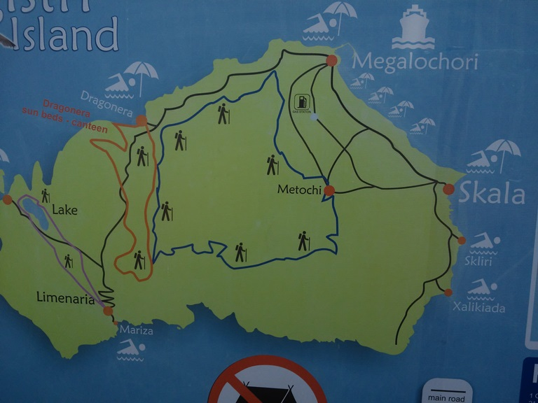Agistri mapa