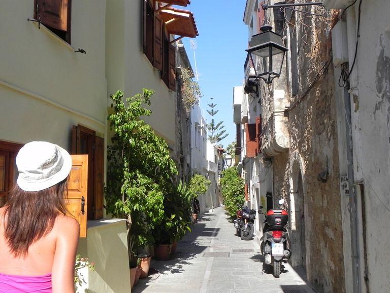 Rethymnon - wąska uliczka