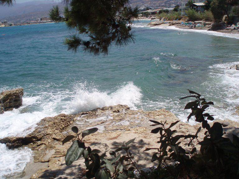 Kreta - skalisty brzeg