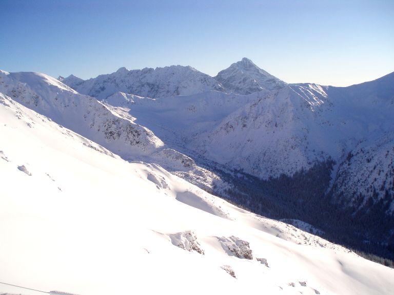Dolina Goryczkowa - widok na góry