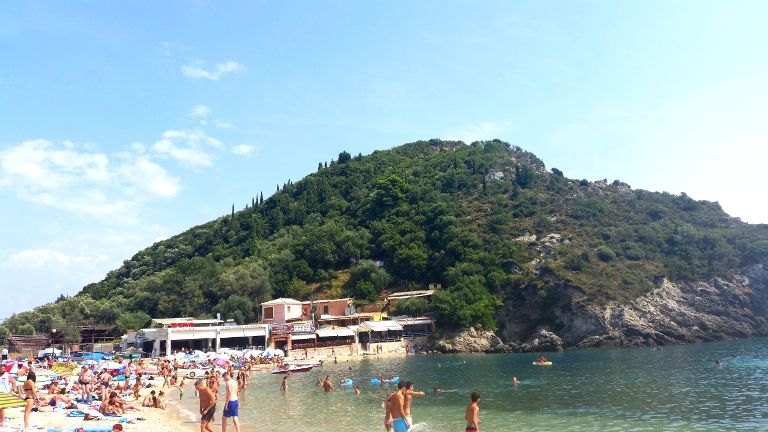Paleokastrica - plaża Agios Spiridon