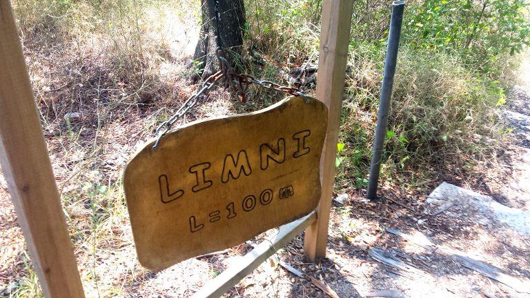 Limni - oznaczenie zejścia na plażę
