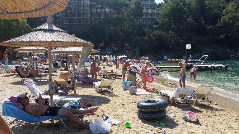 Akron beach - tłok na plaży
