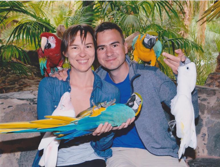 Papugi w Palmitos Park