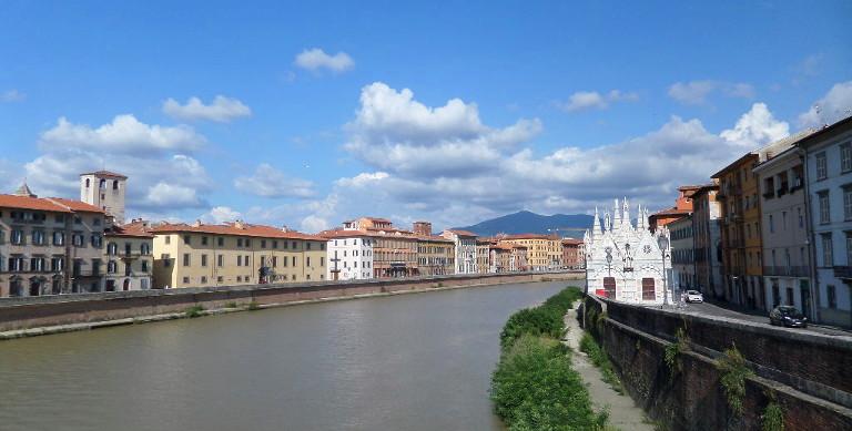 Widok na rzekę Arno