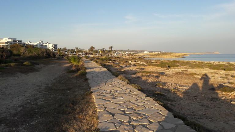 promenada nad morzem w Ayia Napa