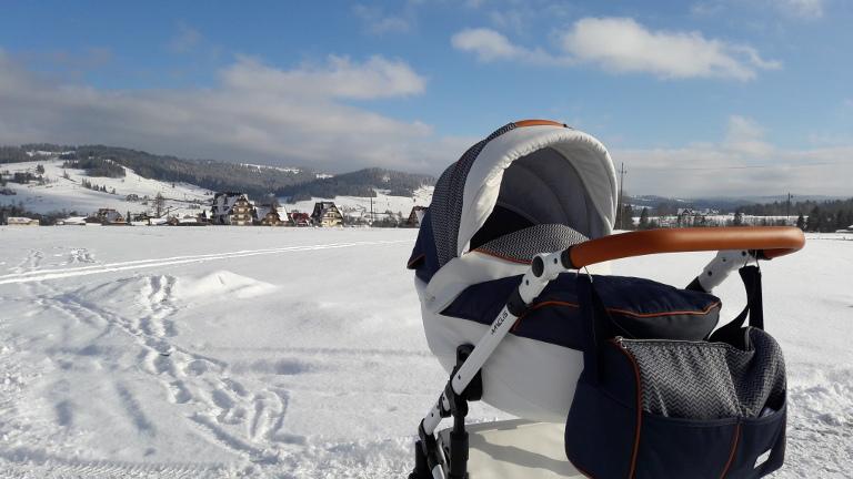 Amelis Hugo w górach zimą