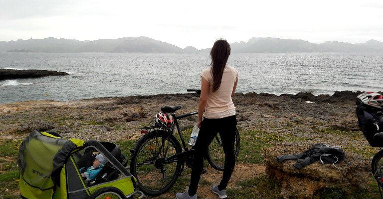 mama na rowerze