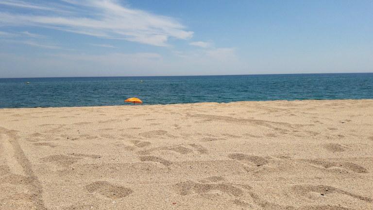 plaża w Pineda de Mar