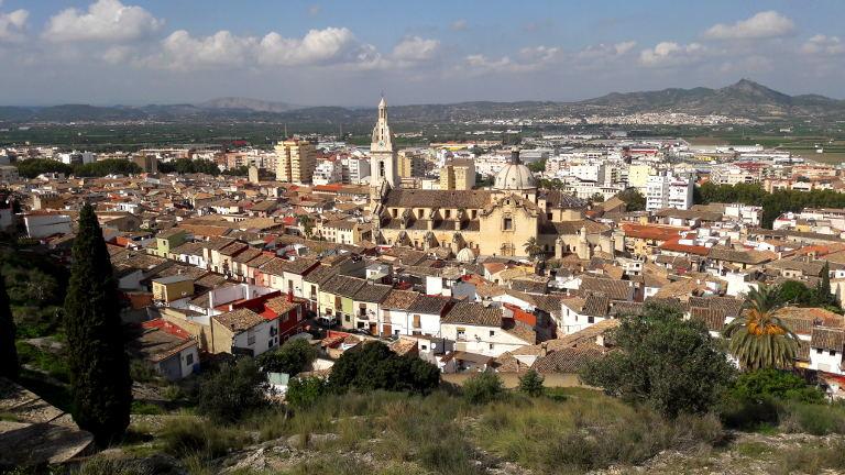 Xativa - widok na miasto